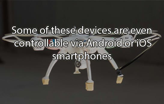Some of these devices are even controllable via Android or iOS smartphones.